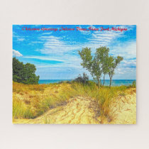 Indiana Dunes State Park Michigan. Jigsaw Puzzle