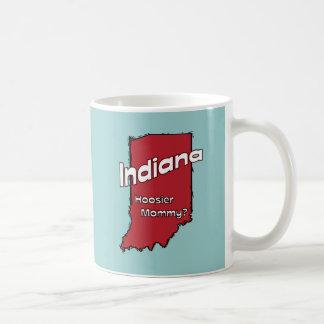 Indiana EN mamá del Hoosier del ~ del lema de los  Taza