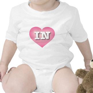 Indiana EN rosa se descolora corazón Trajes De Bebé
