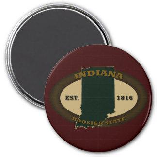 Indiana Est. 1816 3 Inch Round Magnet