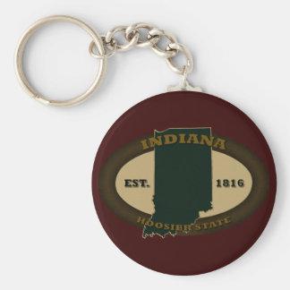 Indiana Est. 1816 Llavero Redondo Tipo Pin