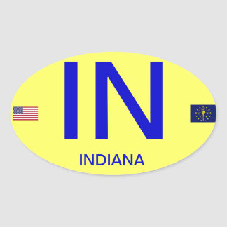 Indiana* European Style Oval Sticker