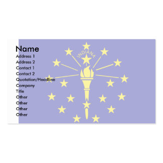 Indiana Flag Business Card
