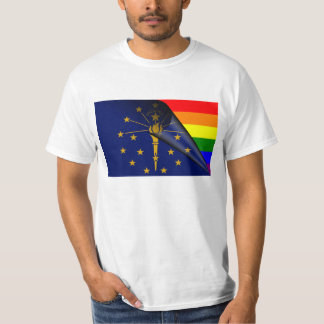 Indiana Flag Gay Pride Rainbow Shirt
