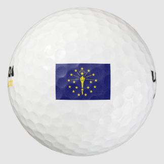 INDIANA Flag Golf Balls