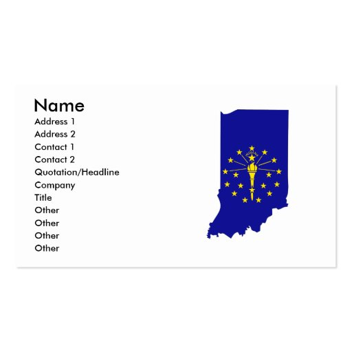 Indiana Flag Map Business Card