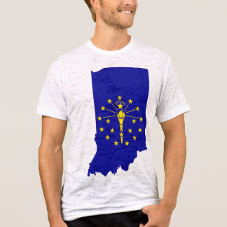 Indiana Flag Map T-Shirt