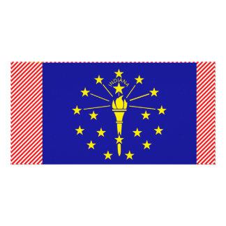 Indiana Flag Photo Card Template