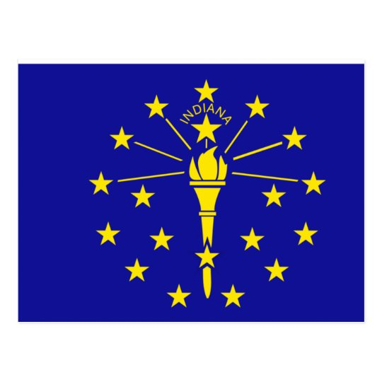 Indiana Flag Postcard