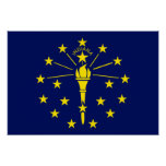Indiana Flag Poster