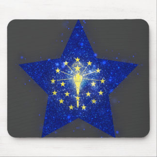 Indiana Flag Star Shining Mouse Pad
