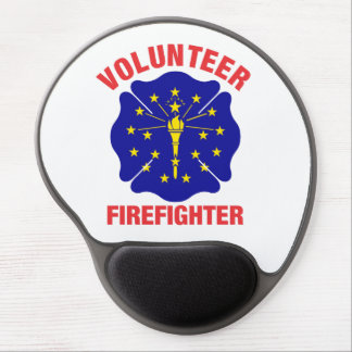 Indiana Flag Volunteer Firefighter Cross Gel Mouse Pad