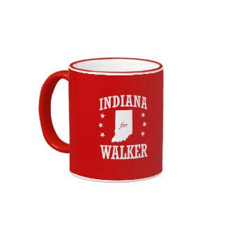 INDIANA FOR WALKER RINGER COFFEE MUG