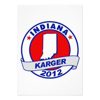 Indiana Fred Karger Personalized Invites
