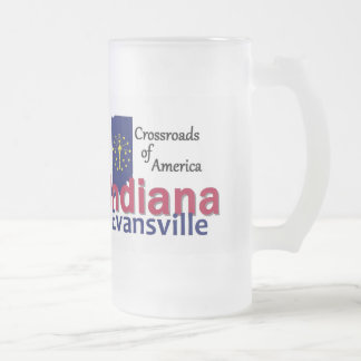 INDIANA FROSTED GLASS BEER MUG