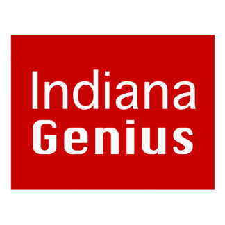 Indiana Genius Gifts Postcard