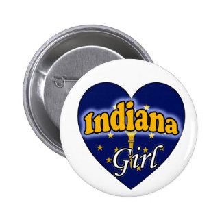 Indiana Girl Pinback Button