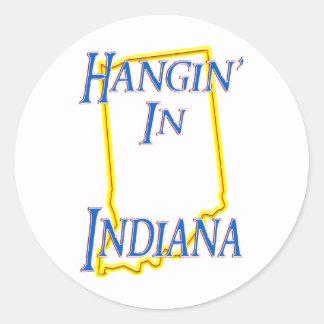 Indiana - Hangin' Classic Round Sticker