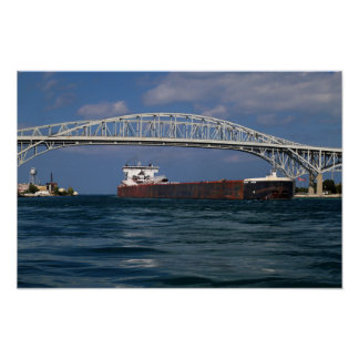 Indiana Harbor and Blue Water Bridge Poster