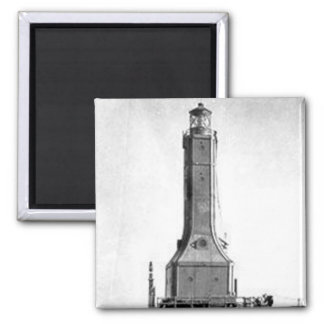 Indiana Harbor East Breakwater Lighthouse 2 Inch Square Magnet