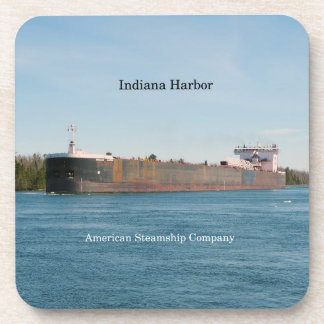 Indiana Harbor set of 6 hard plastic coasters