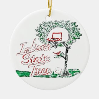 Indiana high school basketball ceramic ornament