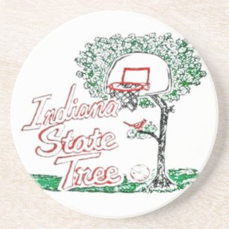 Indiana high school basketball drink coaster