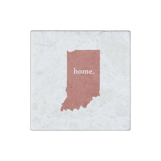 Indiana home silhouette state map stone magnet