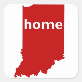 Indiana Home Square Sticker