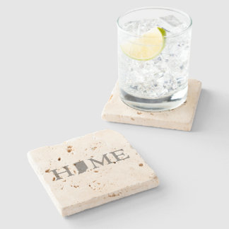 Indiana Home State Stone Coaster
