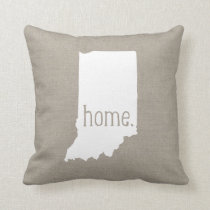 Indiana Home State Throw Pillow