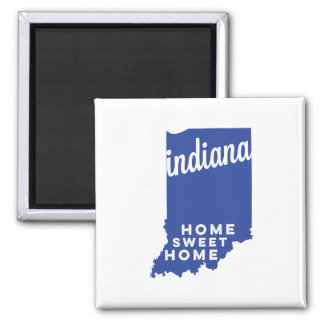 indiana | home sweet home | blue magnet