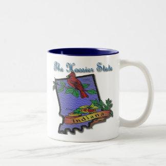 Indiana hoosier Cardinal Peony Coffee Mug