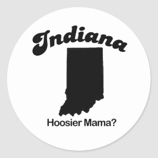 Indiana - Hoosier Mama Classic Round Sticker