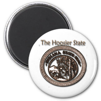 Indiana Hoosier State Seal 2 Inch Round Magnet
