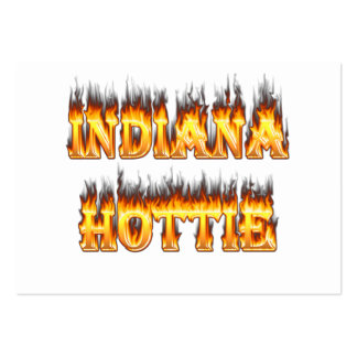 Indiana Hottie Fire and Flames Business Card Templates