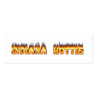 Indiana Hottie Fire and Flames Business Cards