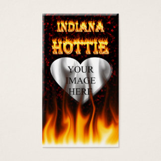 Indiana Hottie fire and red marble heart. Business Card