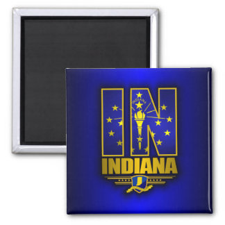 Indiana (IN) 2 Inch Square Magnet