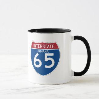 Indiana IN I-65 Interstate Highway Shield - Mug