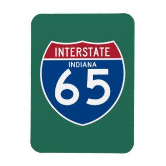 Indiana IN I-65 Interstate Highway Shield - Rectangular Photo Magnet