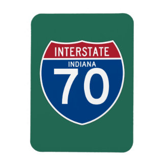 Indiana IN I-70 Interstate Highway Shield - Magnet