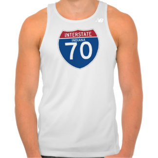 Indiana IN I-70 Interstate Highway Shield - T-shirt