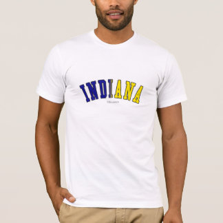 Indiana in state flag colors T-Shirt
