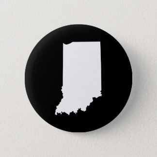 Indiana in White and Black Button