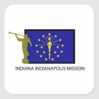 INDIANA INDIANAPOLIS MISSION LDS CTR SQUARE STICKERS