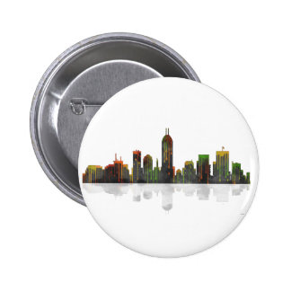 Indiana Indianapolis Skyline 2 Inch Round Button