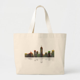 Indiana Indianapolis Skyline Large Tote Bag