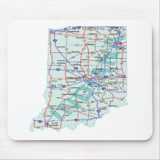 Indiana Interstate Map Mousepad