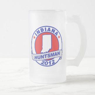 Indiana Jon Huntsman 16 Oz Frosted Glass Beer Mug